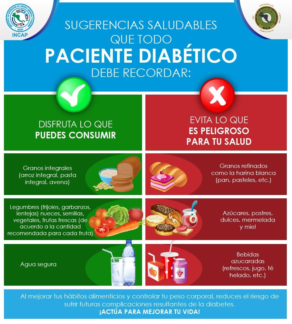 Sugerencias saludables que todo paciente diabético debe