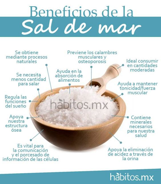Beneficios de la sal de mar